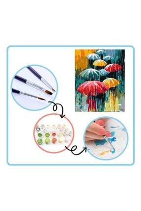 PlusHobby Şemsiye Sayılarla Boyama Seti 40x50 cm Tuval 1