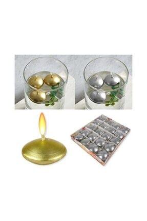DDTREND 6 Adet Suda Yüzen Mum Tea Light 2 Renk Karışık Paket Parti Doğum Günü Sürpriz Masa Süs 2