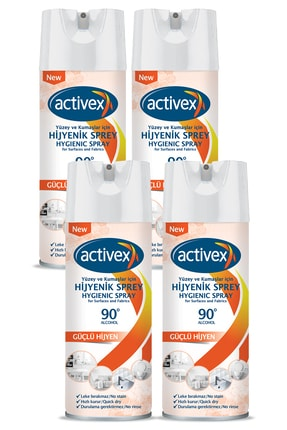 Activex Hijyenik Kumaş Ve Yüzey Spreyi 400ml X 4 Adet 0
