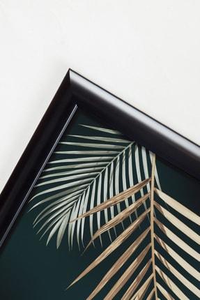 Sanat fotoğraf 3'lü Soyut Altın Yaprak Çerçeveli Ve Camlı Tablo Seti Poster Duvar Dekoru Modern Oturma Odası 2