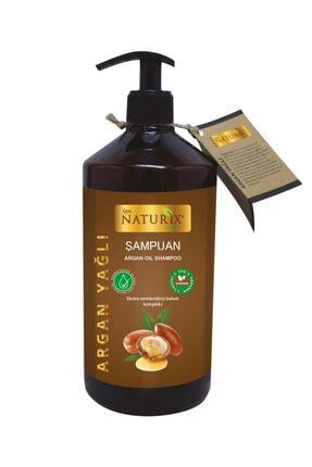 Naturix Tuzsuz Şampuan 2'li Doğal Argan Yağlı Şampuan 600 ml 500 ml Argan Yağlı Saç Kremi 1