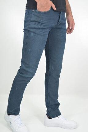ds danlıspor Erkek Tint Mavisi Çizgili Likralı Yıpratmalı Denimstar Kot Pantolon 1