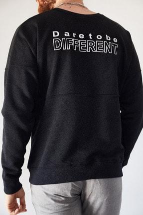 XHAN Erkek Antrasit Sırtı Different Baskılı Sweatshirt 1kxe8-44228-36 0