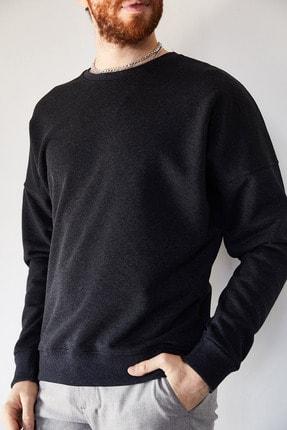 XHAN Erkek Antrasit Sırtı Different Baskılı Sweatshirt 1kxe8-44228-36 1