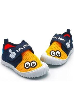 Picture of 03034 Sarı-lacivert Çocuk Keten Ayakkabı Günlük Ayakkabı