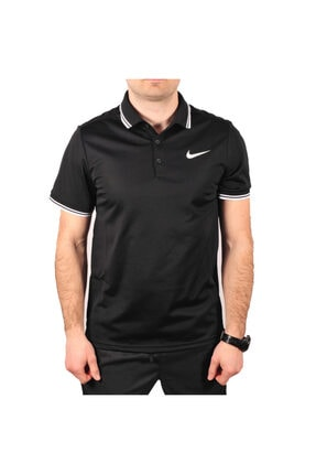 Nike Erkek Siyah Polo Yaka T-shirt -  M NKCT Dry Polo Solid PQ 830847-010 Erkek Tişört - 830847-010 2