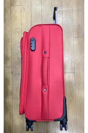 GROUND Orta Boy Kırmızı Hafif 4 Tekerlekli Kumaş Valiz 1