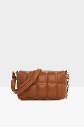 Lolinna Kadın Taba Nakışlı Kapaklı Mini Çanta Lln8787 2