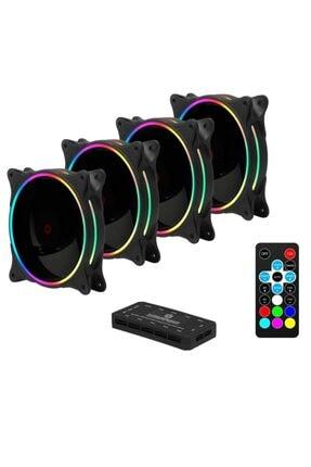 Frisby Fcl-f1264b 4in1 Kumandalı Dual Rgb Fan Set 4lü Set Kit 4x120mm Sessiz Kasa Fanı 0