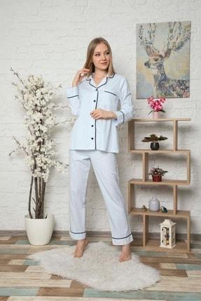 DAPSEE Gömlek Yaka Cepli Pijama Takımı 1