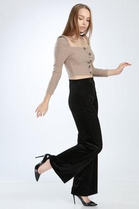 Ananas Kadın Siyah Kadife Pantolon 2