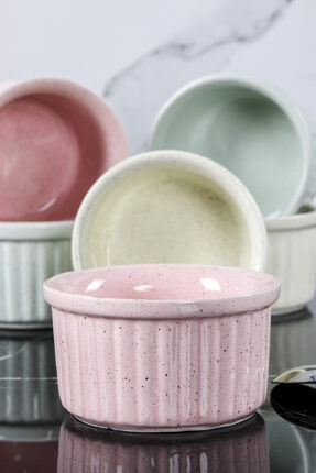 Cooker Shop Shop Seramik 6'lı Lüx Renkli Sufle Kabı Iby 2