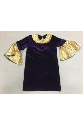 Kız Çocuk Mor Pullu Elbise TYC00081078041