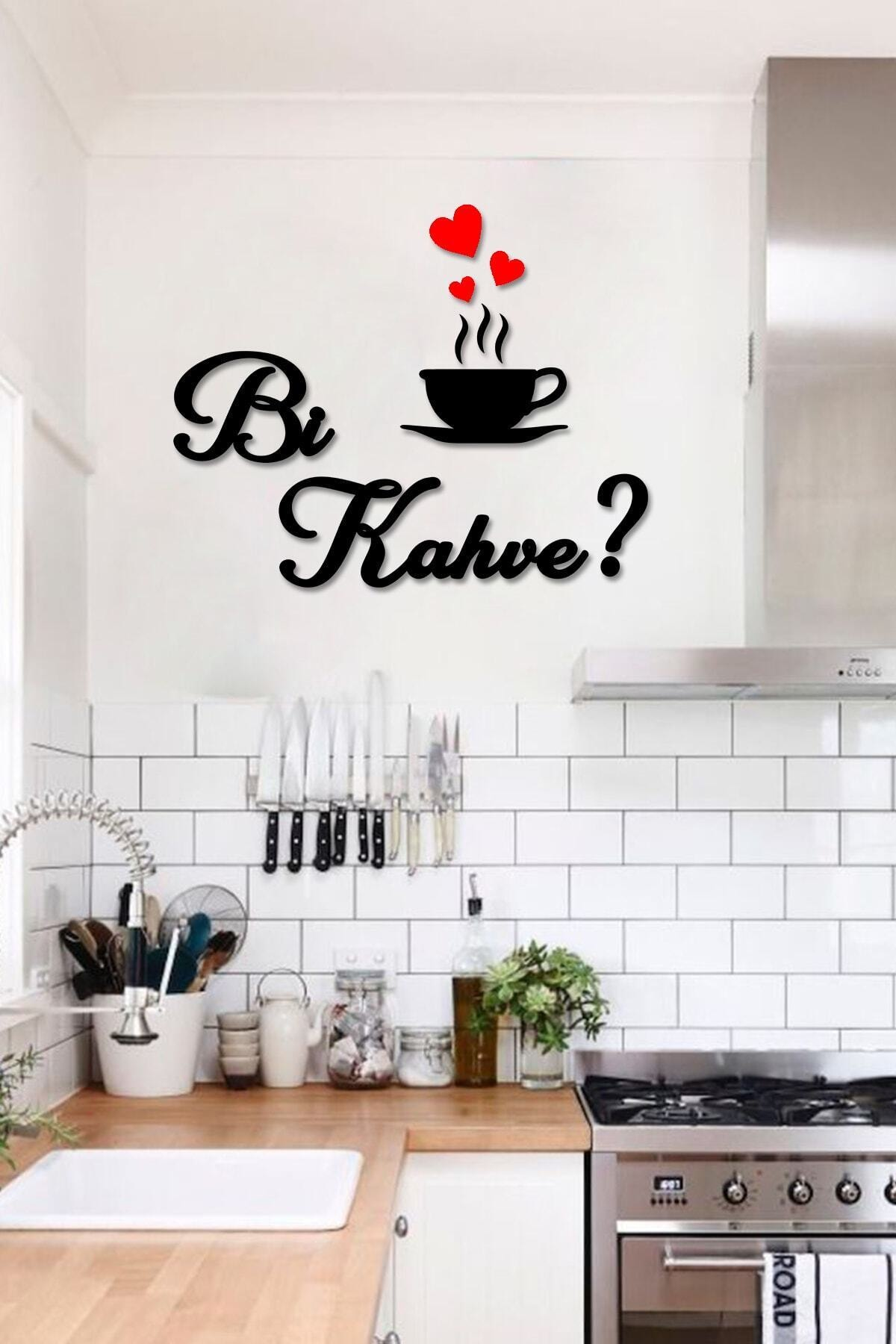 Kahve Ahşap Dekoratif Mutfak Duvar Tablosu
