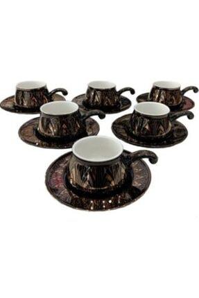 6 Li Bone Kemeık Tozu Kahve Fincani Yaldızlı klc 180554151