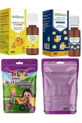 Venatura D3 Damla (1000 Iu)20 Ml+vitamin D3k2 Damla 20 Ml+niloya Multivitamin 60 Çiğneme 0