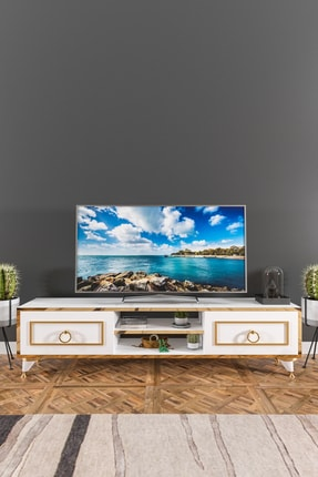 Ardeno Lotus Tv Ünitesi Beyaz 0
