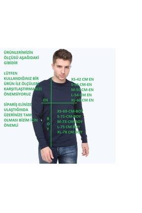 kamola Erkek Lacivert Uzun Kol Pamuk Coton T-shirt 1