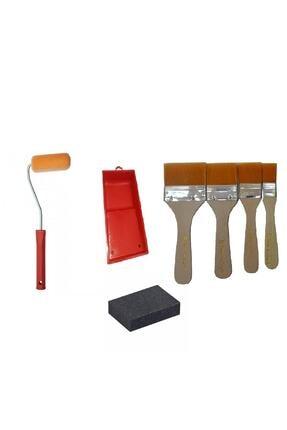 Sanatsal Dünya 4'lü Boyama Seti Iz Bırakmayan Rulo+rulo Tavası+sünger Zımpara+fırça Seti 0