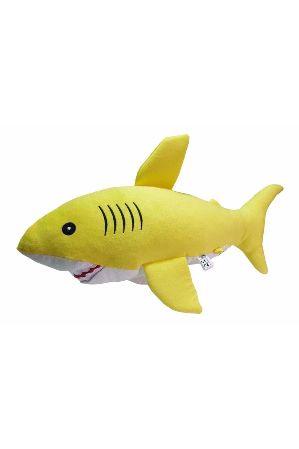 Uyku Arkadaşım Yumuşak Köpek Balığı Sarı - 50 Cm.