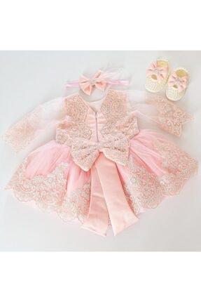 Kız Çocuk Pembe Elbise elbise