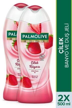 Palmolive Body Butter Çilek Rüyası Banyo Ve Duş Jeli 2x 500 ml 0