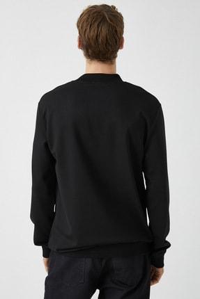 Koton Erkek Siyah Sweatshirt 1KAM74082OK 3