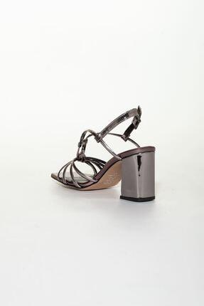derithy Kadın Platin Klasik Topuklu Ayakkabı 3