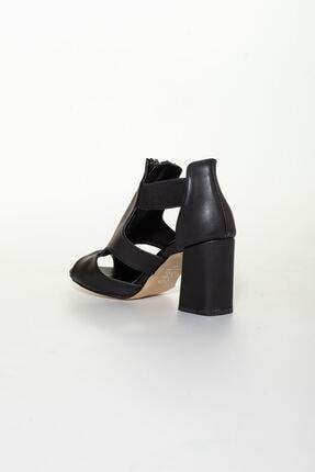 derithy Kadın Siyah Klasik Topuklu Ayakkabı 3
