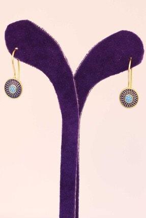 Artuklu Telkari Kadın Altın Renk Mineli Mardin Midyat Hasırı Gümüş Küpe 1