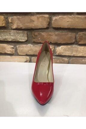 SERRACE Kadın Kırmızı Sivri Burun Sivri Topuk Stiletto Ayakkabı. 1
