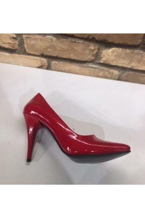 SERRACE Kadın Kırmızı Sivri Burun Sivri Topuk Stiletto Ayakkabı. 4