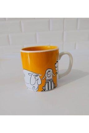 Keramika Sarı 10 cm Kupa 0