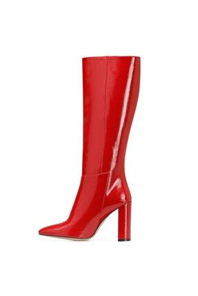 Nine West MIMA Kırmızı Kadın Ökçeli Çizme 100582031 3