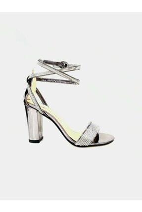 PUNTO 462051 Kadın Yüksek Topuk Taşlı Abiye Ayakkabı 0