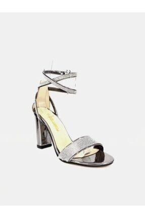 PUNTO 462051 Kadın Yüksek Topuk Taşlı Abiye Ayakkabı 1
