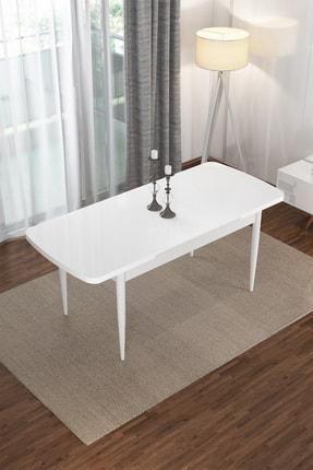 Canisa Concept Via Serisi Beyaz Açılabilir Mutfak Masası 1