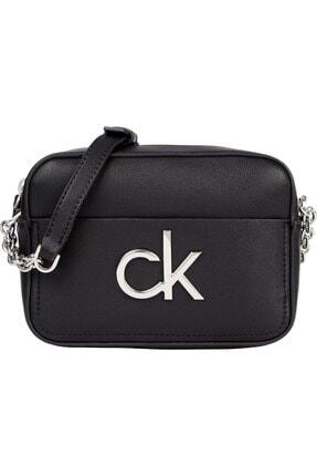 Calvin Klein Kadın Siyah Re-lock Camera Bag Omuz Çantası 0