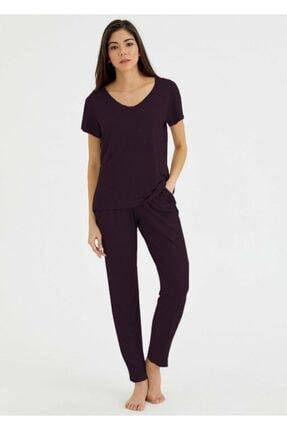 Suwen Kadın Bordo Scarlet Pijama Altı 0