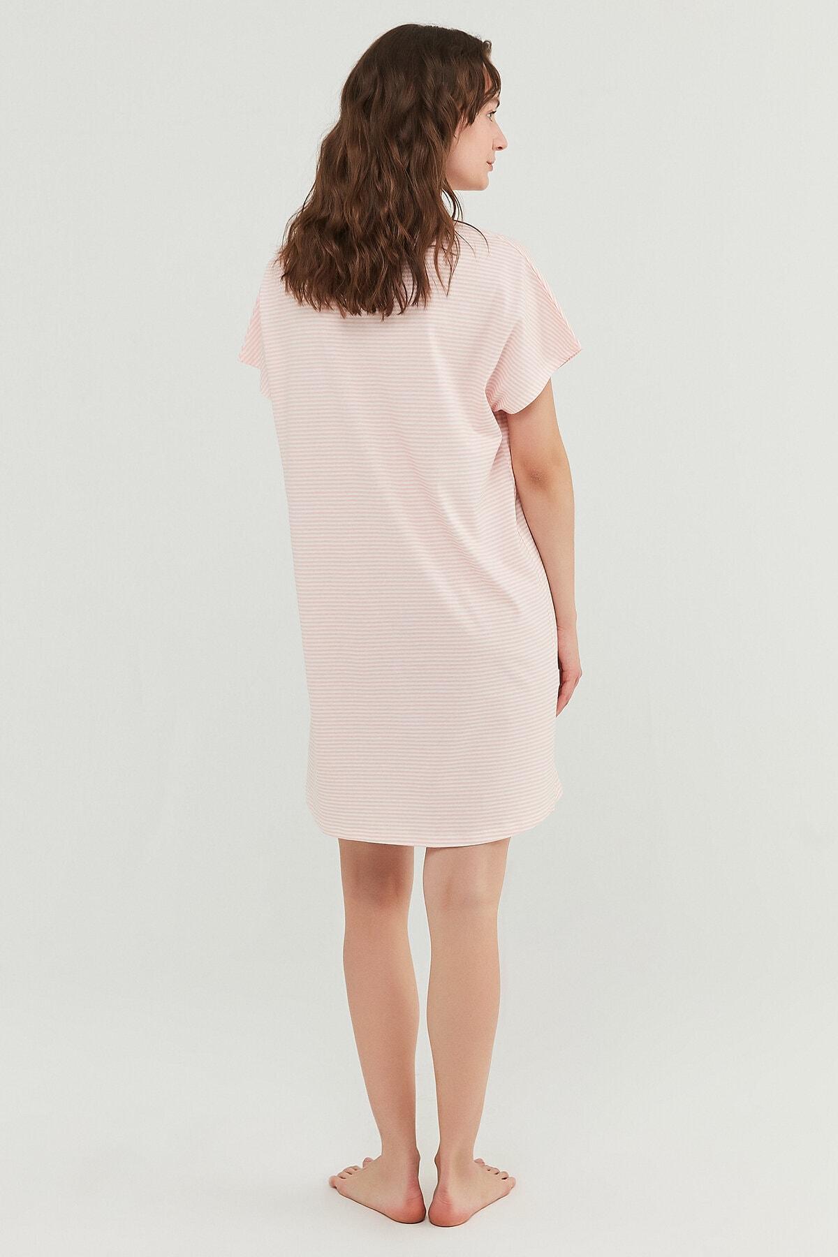 Penti Somon Pretty Striped Elbise 4