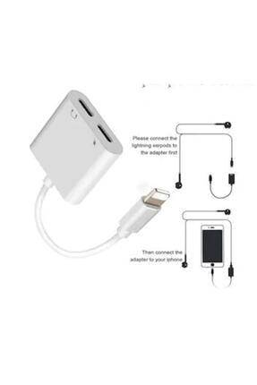 Polygold Iphone Lightning Kulaklık Ve Şarj Adaptörü Dönüştürücü Çevirici 1
