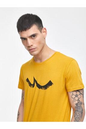 Ltb Erkek  Sarı  Baskılı  Kısa Kol Bisiklet Yaka T-Shirt 012208453260890000 1