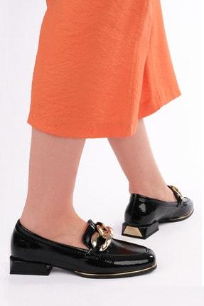 Marjin Kadın Siyah Rugan Loafer Ayakkabı Annar 1
