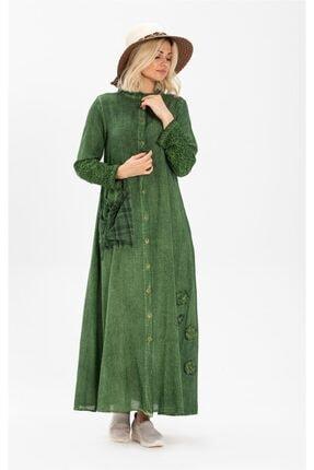 Zümrüt Şile Bezi Elbise Yeşil 922.07