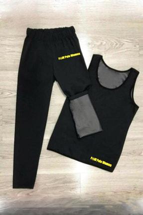 P&W Polo Women Unisex Sauna Terleme Sweat Polymer Üst Alt Atlet Tayt Termal Takım 0