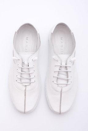 Marjin Kadın Beyaz Hakiki Deri Günlük Comfort Ayakkabı Edor 2
