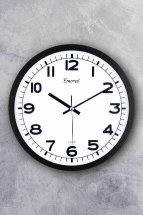 EMORES Beyaz Gerçek Cam Sessiz Mekanizma Duvar Saati 31 cm 0