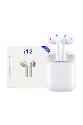 Tws Airpods I12 Bluetooth V5.0 Kablosuz I12 Iphone Uyumlu Bluetooth Kulaklık Hd Ses Kalitesi 0