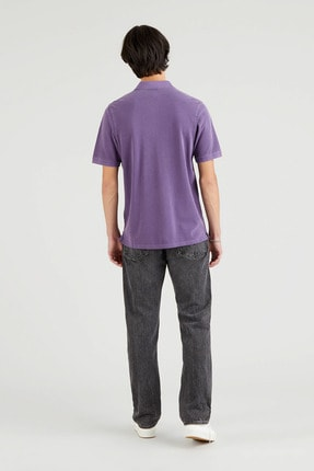 Levi's New Authentic Polo Loganberry Garment Dye Erkek Mavi Polo Tişört 2
