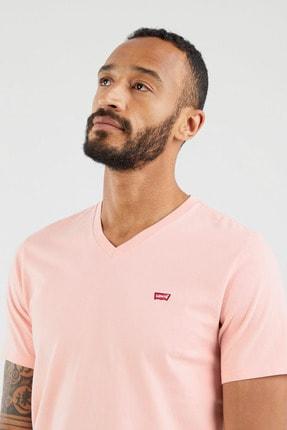 Levi's Erkek Orig Hm Vneck Powder Pink Siyah  Erkek Tişört 8564100130 2